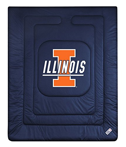 NCAA Illinois Fighting Illini Locker Room Comforter - Locker Illinois Room Illini Fighting