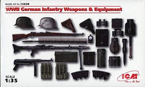 - ICM 1:35 WWII German Infantry Weapons & Equipment Plastic Diorama Kit #35638