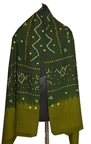Price comparison product image India Handmade shawl / Woolen shawl / Khadi / pure wool / handwoven New (Green)