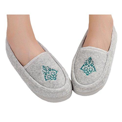 Pantofole Da Donna In Lana Morbida Cotone Antigraffio