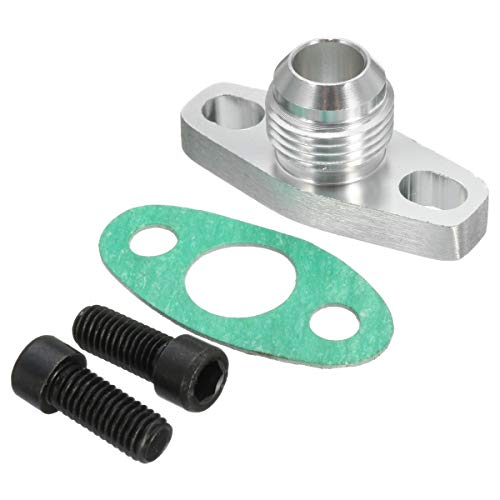 Gavita-Star - Oil Return Flange Adapter AN10 Turbo Billet Bolt Gasket Set For GT T25 T28 For Garrett Aluminium