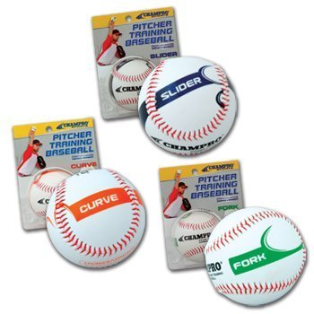 - Champro Curve Pitcher Training Baseball (White, 9-Inch)