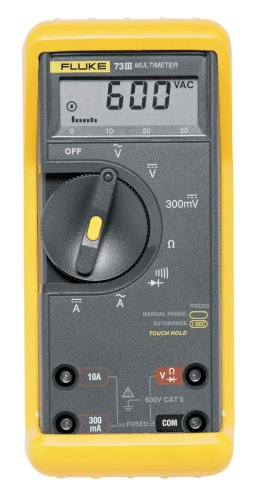 fluke corporation 73 3 series iii 600 volt digital multimeter rh amazon com Fluke Multimeter 80 Series 3 Fluke 88 Multimeter