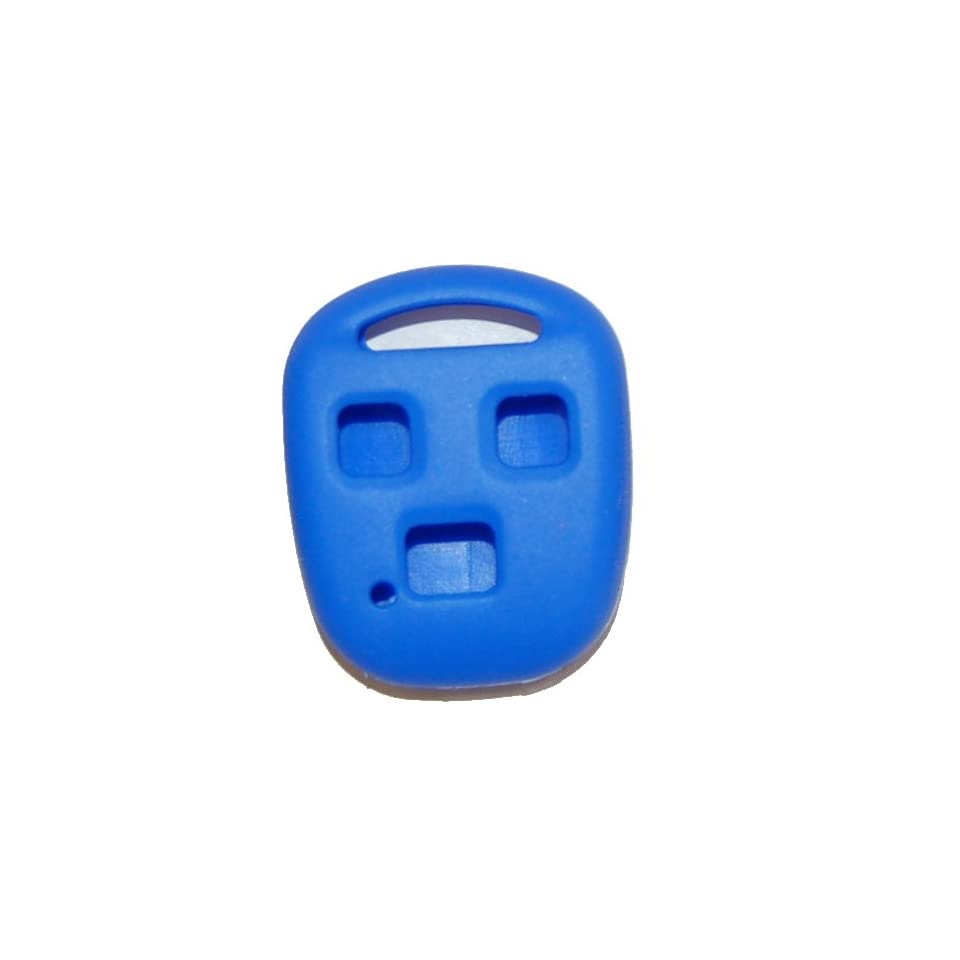 1998 2007 Toyota Land Cruiser Silicone Rubber Remote Cover Blue
