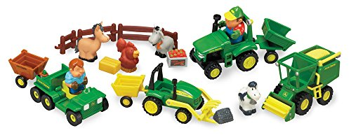 Green Farm Tractor - TOMY John Deere 1st Farming Fun Preschool Toy, Green
