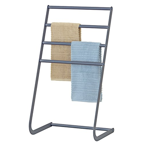 32 Inch Freestanding Metal Towel Rack, 4 Tier Laundry Drying