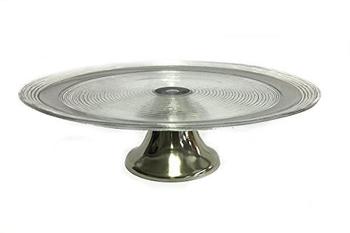 (Seville Footed Cake Plate Platinum)