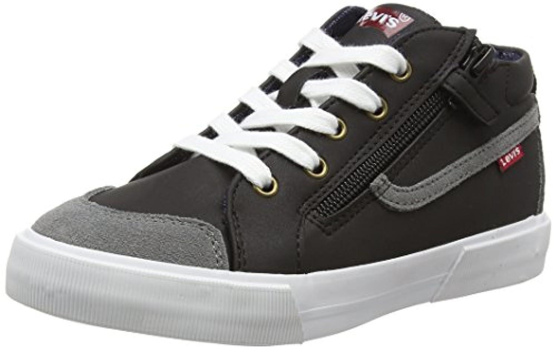 Levis footwear Unisex Kids' Alban Low-Top Sneakers, Black (Noir Gris 81), 1 Child UK 33 EU