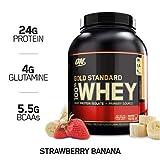 OPTIMUM NUTRITION GOLD STANDARD 100% Whey Protein Powder, Strawberry Banana, 5 Pound