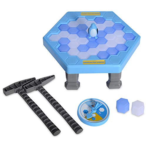 SS Save Penguin On Ice Game Penguin Trap Activate Funny Family Party Ice Breaking Kids Puzzle Table Knock Block Ice-Block Breaking Game ()