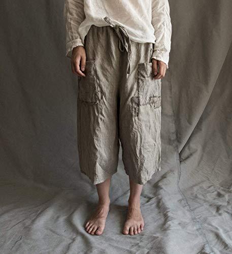 Women's men's pants in natural grey undyed -