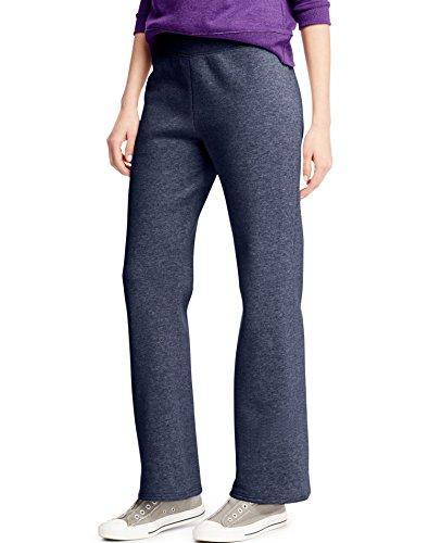 Hanes Womens ComfortBlend Fleece Sweatpants (Small, Navy Heather) - Rise Low Sweatpants