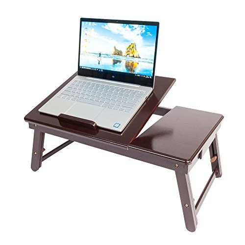 Goujxcy Lap Desk Tray,Foldable Adjustable Breakfast Table Tilting Top Adjustable Computer Tray for Bed, Foldable Bed Desk for Laptop and Writing (Dinner Tv Trays Target)