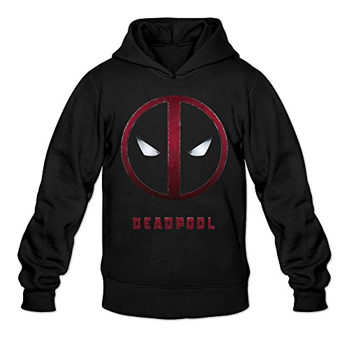 Rod Stewart Costume (MARY Men's Deadpool Movie Trailer Mask Logo Hoodies Sweatshirt Black)