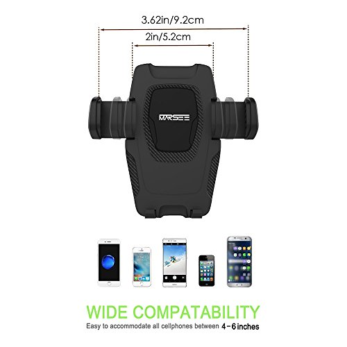 Marsee Car Phone Mount Windshield Mount Dashboard Mount Car Phone Holder With Gravity Self Locking One Touch Design And Anti Skid Base For IOS Android SmartphoneUniversal Car Mobile Phone Cradle