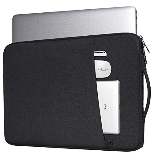 15.6 Inch Laptop Briefcase Sleeve Bag for Acer Aspire 5/Aspire E 15/Predator Helios 300/Chromebook 15, Lenovo Yoga 720/730 15.6, Dell Inspiron 15/Asus Chromebook/HP Pavilion Protective Sleeve(Black) (Aspire Laptop Acer Accessories)