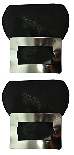 Morris Costumes Colonial Shoe Buckles Silver Costume Accessory,Black/Silver,One Size