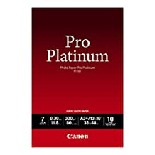 Genuine Canon PT-101, 13 x 19-Inch, A3+ Size, Photo Paper Pro Platinum, 10 Sheets/Package