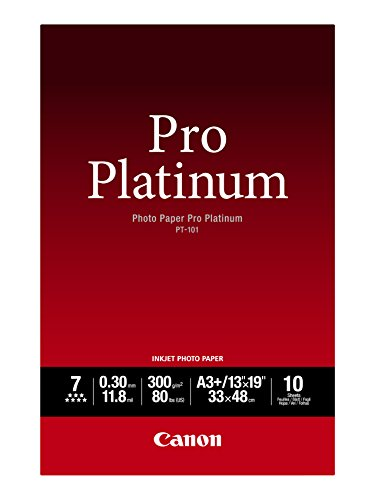 Canon Photo Paper Pro Platinum, 13 x 19 Inches, 10 Sheets - Canon Paper Inkjet Heavyweight