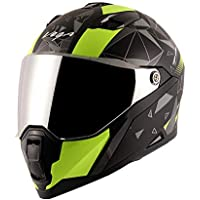 Vega Storm Drift Dull Black Neon Yellow Helmet-L