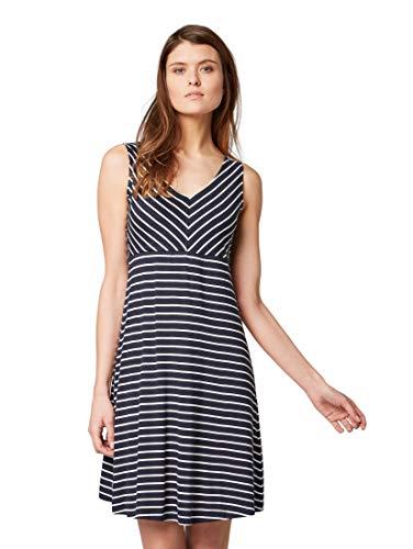 TOM TAILOR Damen Kleider & Jumpsuits Kleid mit Streifenmuster