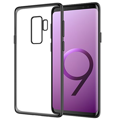 Galaxy S9 Plus Case, Snowpink Ultra Slim S9 Plus Case Shock Absorption Technology BumperSoft TPU Anti-Scratch Back Cover Case Compatible Samsung Galaxy S9 Plus (2018) - Black