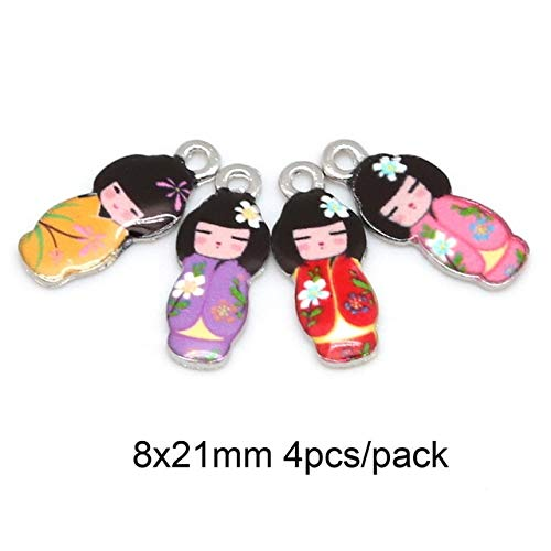 SMALL-CHIPINC - Japanese Doll 8x21mm Necklace Pendant