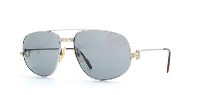 5a5be64a9434 Image Unavailable. Image not available for. Colour  Cartier romance santos  Silver Authentic Men Vintage Sunglasses