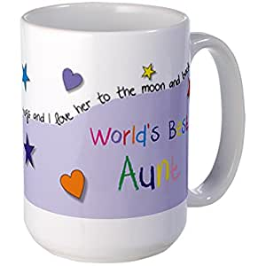 CafePress Unique Design Worlds Best Aunt Illustrated Colourful Large