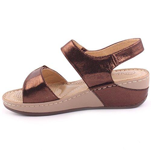Zapatos marrones de otoño Unze London para mujer D3x0ObLw
