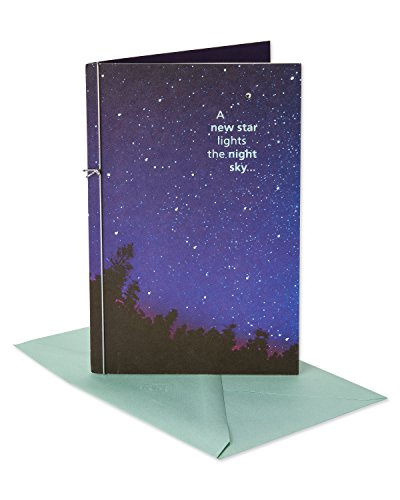 - American Greetings New Star Shine Forever Sympathy Greeting Card with Cord and Foil