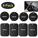 HEYUS [8 Pack] Mount Metal Plate Replacement for Phone Magnet, Metal Disc with Adhesive for Magnetic Phone Car Mount…