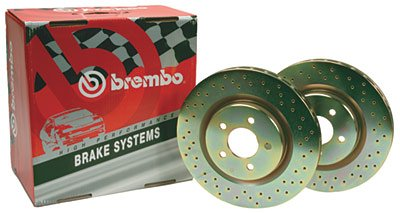 - Brembo BDR37161 Drilled Front Brake Rotor
