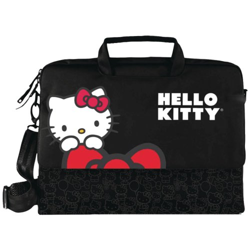 Hello Kitty Kt4335B Hello Kitty Notebook Bag (Black)