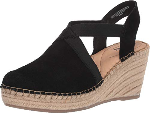 Born Meade Black Suede Women's Wedge Shoes