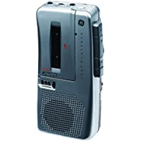 GE 35383 Micro Cassette Recorder with AVR/Batteries/and Tapes