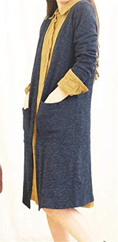 Automne Assez V Femme Unicolore Printemps Tricot en Cardigan en Veste Manteau Chic Tricot n00H7wqY