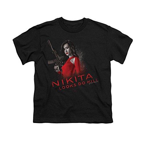Nikita Spy Thriller Drama Action TV Series Cw Looks Do Kill Youth T-Shirt Tee