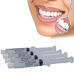Professional Dental Strength 22% Teeth Whitening Gel - Made In USA - Includes 4 XL 10ml Syringes of Teeth Whitening Gel - Fast Results FDA Approved formula.