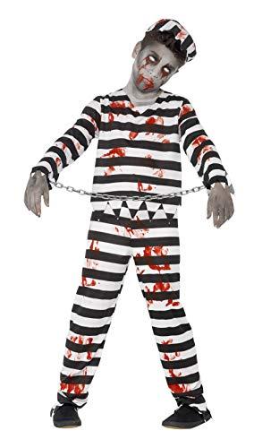 Smiffys Children's Zombie Convict Costume, Trousers, Top, Hat & Wrist Cuffs,