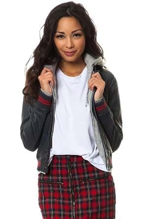 Obey Women's Varsity Lover Jacket Extra Small Navy
