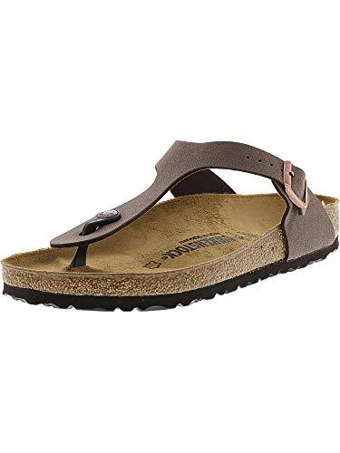 (Birkenstock Womens Gizeh Sandal Mocha Birkibuc Size 37 EU (6-6.5 M US Women))