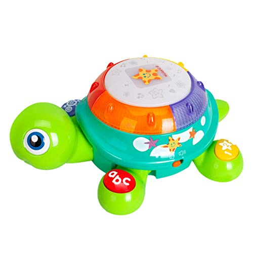 Vacally Music Turtle Toy Electronic Toy Lighting Sound Crawling Turtle Hand Drums Electric Early Childhood Education Kid Toys -
