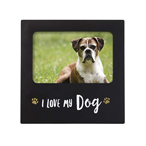 Kate & Milo I Love My Dog Sentiment Frame, Perfect for The Dog Lover or Dog Owner (Picture My Dog I Love Frame)