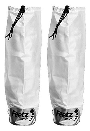 FeetzPocket Wellies - Botas de nieve mujer hombre adultos unisex Blanco - blanco