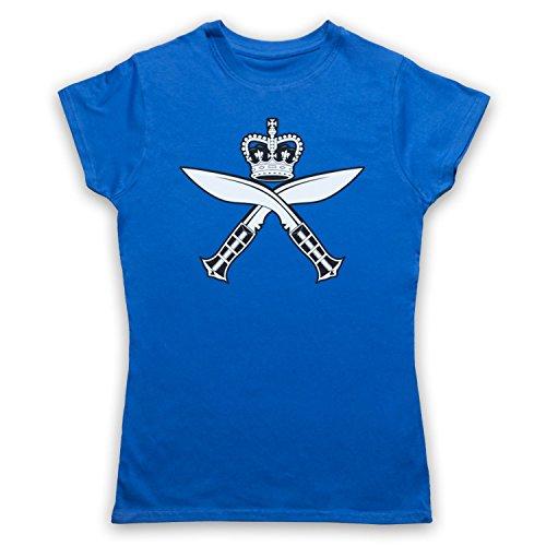 Gurkha Regimental Insignia Badge Logo Camiseta para Mujer Azul Real