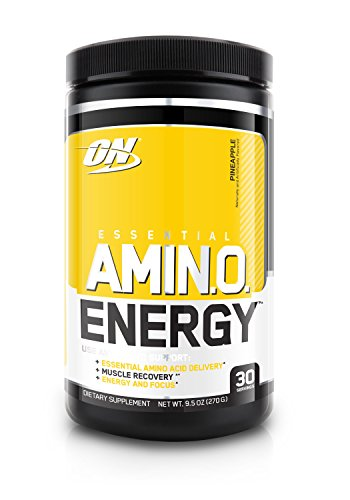 Optimum Nutrition Amino Energy, Pineapple, Preworkout and Essential Amino Acids with Green Tea and Green Coffee Extract, 30 Servings