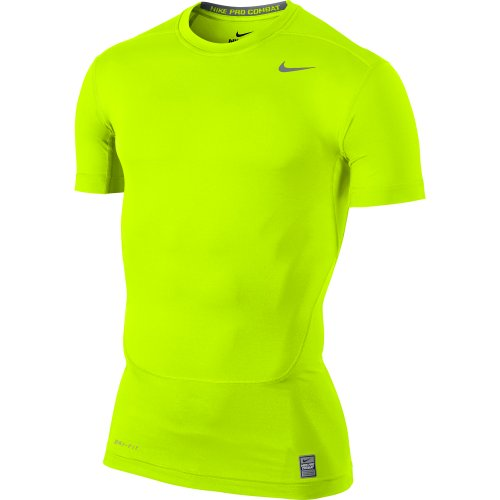 Nike Men's Dri-fit Core Compression Top T-Shirt 449792 Yellow Size XL