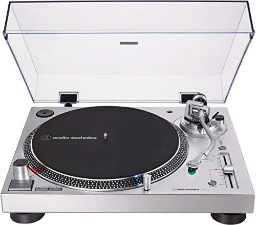 Audio-Technica AT-LP120XUSB-SV Direct-Drive Turntable, Silver