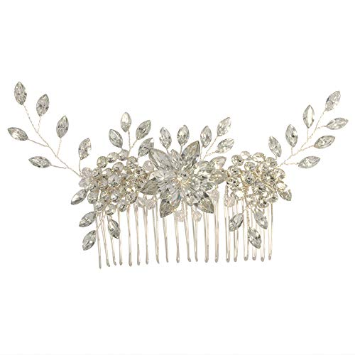 azaleas Floral Wedding Hairband Wedding Hair Piece Flower Hair Comb Headband Freshwater Crystal Bridal Hair Vine Ribbon Headband (H248-Off White) (Azalea Apparel)